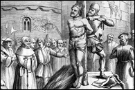 Martyrdom of William Tyndale, d1536. Read more: Foxe's Acts & Monuments